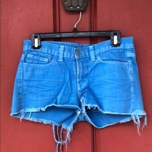 J-Brand size 25 blue cut off denim shorts